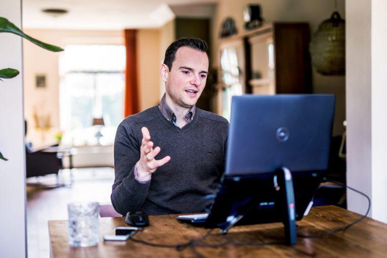 Rene Schoone in a videocall
